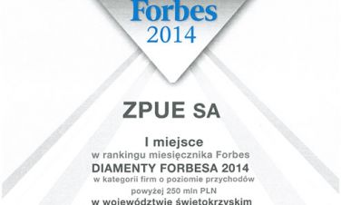 Diament Forbes'a dla ZPUE S.A.