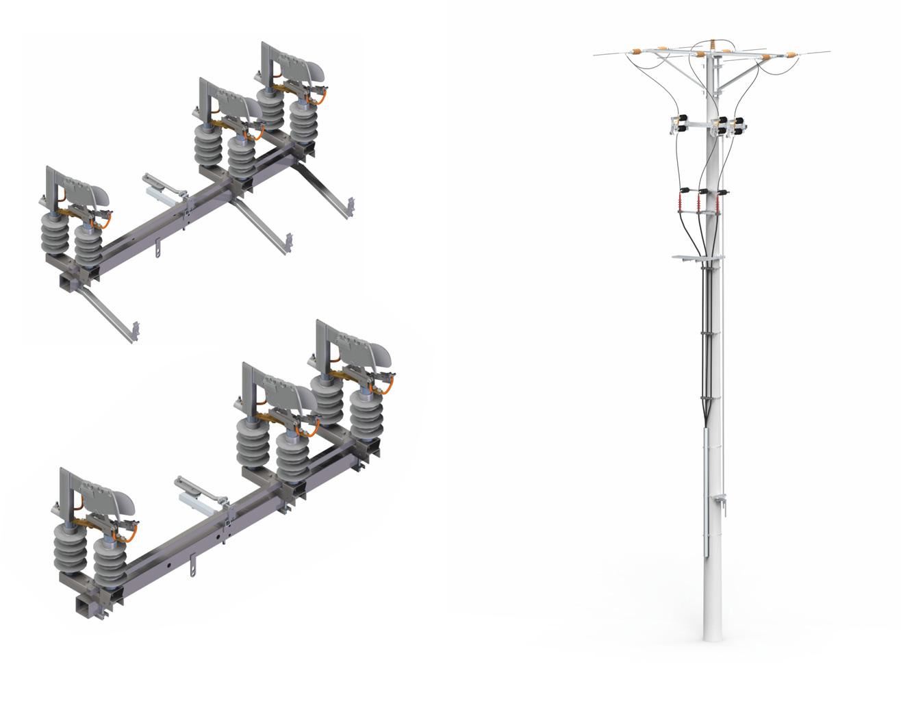 Bardzo dobryFantastyczny Rozłączniki RN i RUN z komorami powietrznymi o prądzie łączeniowym SA62